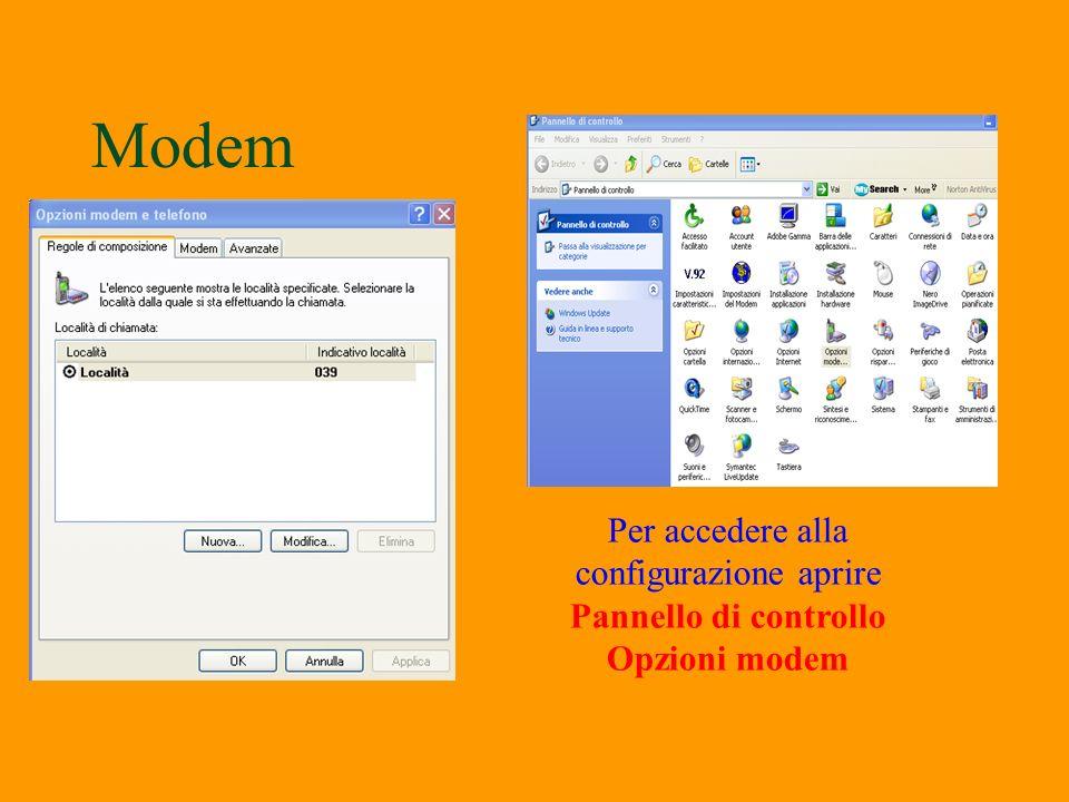 Modem §I modem sono strumenti che permettono di collegare il proprio computer con altri computer. Esistono modem Esterni che si collegano o alla porta