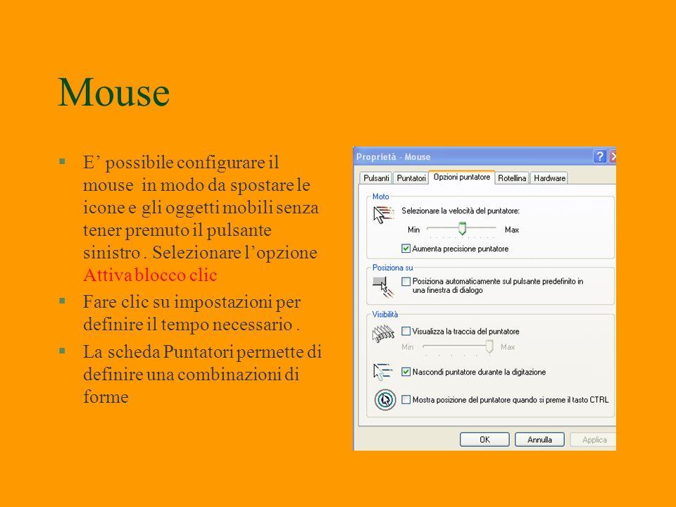 Mouse, tastiere,periferiche gioco §Le icone che consentono di aprire i programmi dedicati ai mouse, alle tastiere, alle periferiche di gioco fanno par