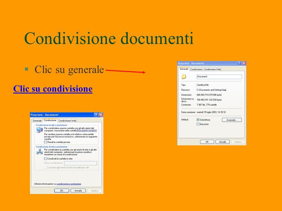 Condivisione documenti Doppio clic su Condividi cartella