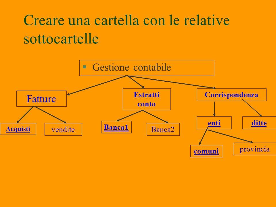 Creazione struttura ordinata sul disco rigido C §E possibile creare delle cartelle ordinate sul disco rigido C o su altro supporto §Start – Risorse co