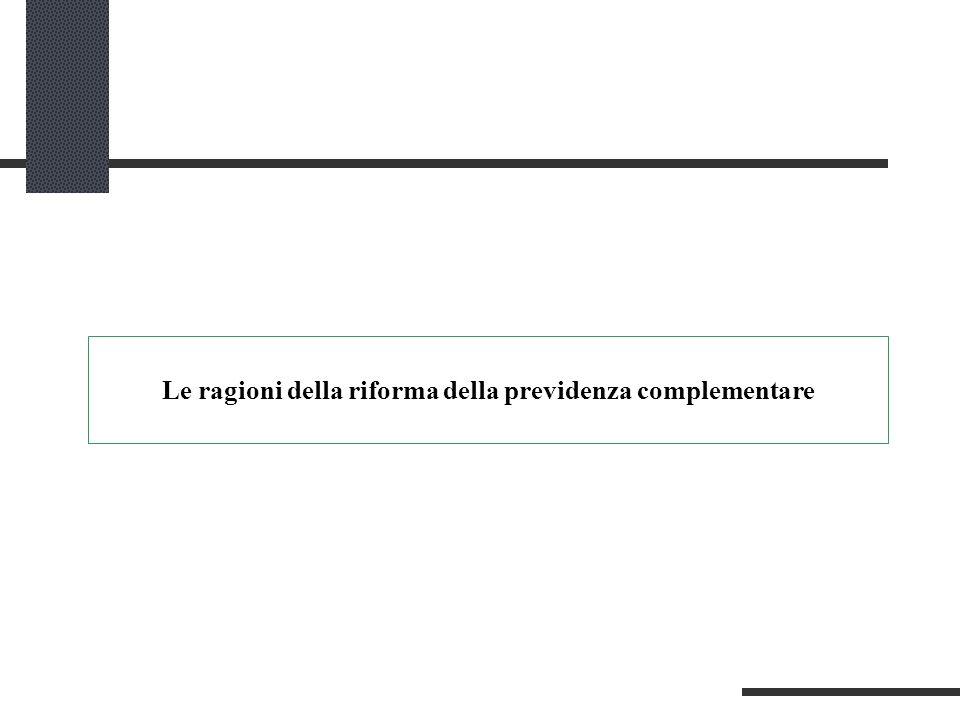 Le ragioni della riforma della previdenza complementare