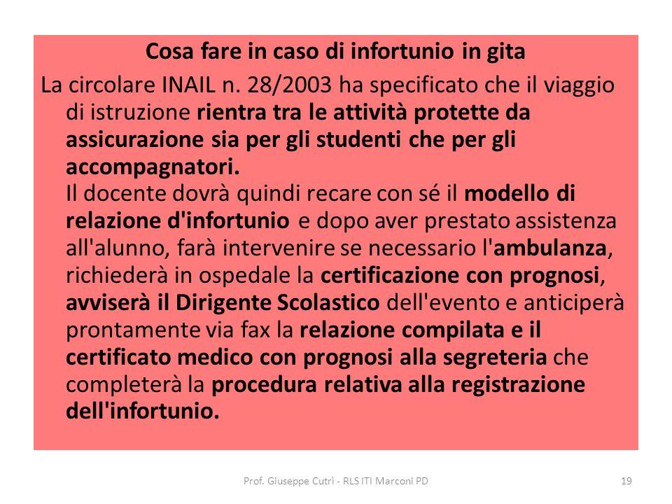 Cosa fare in caso di infortunio in gita La circolare INAIL n.