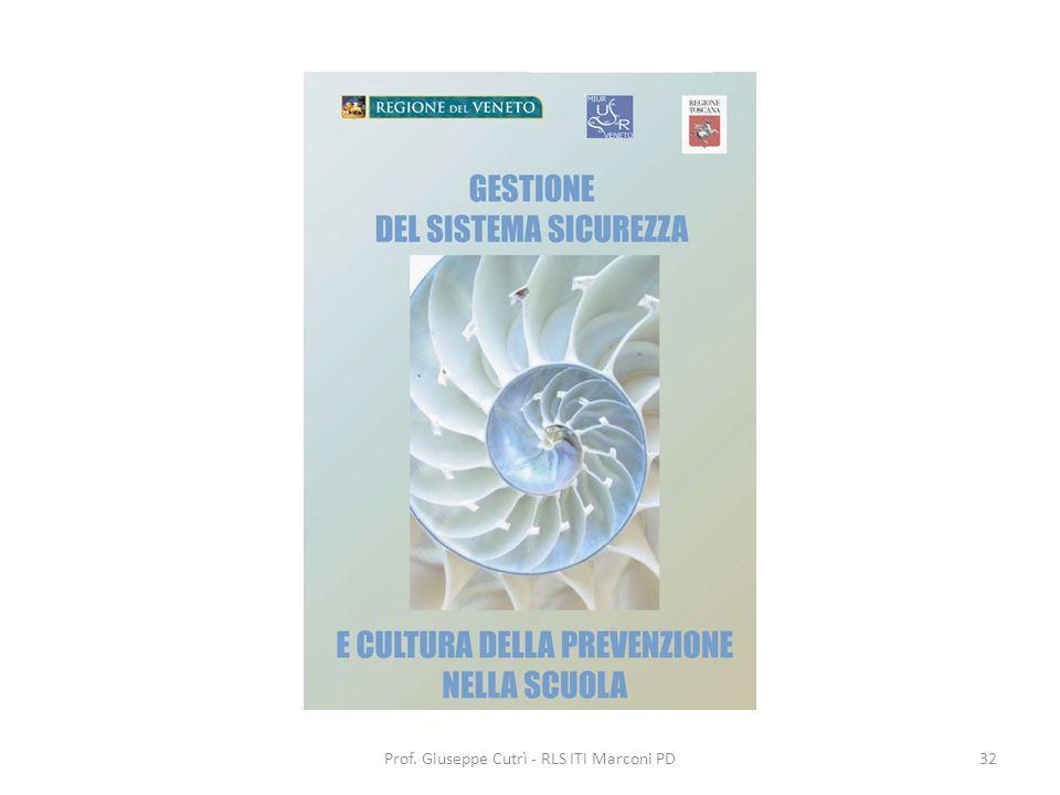 Prof. Giuseppe Cutrì - RLS ITI Marconi PD32