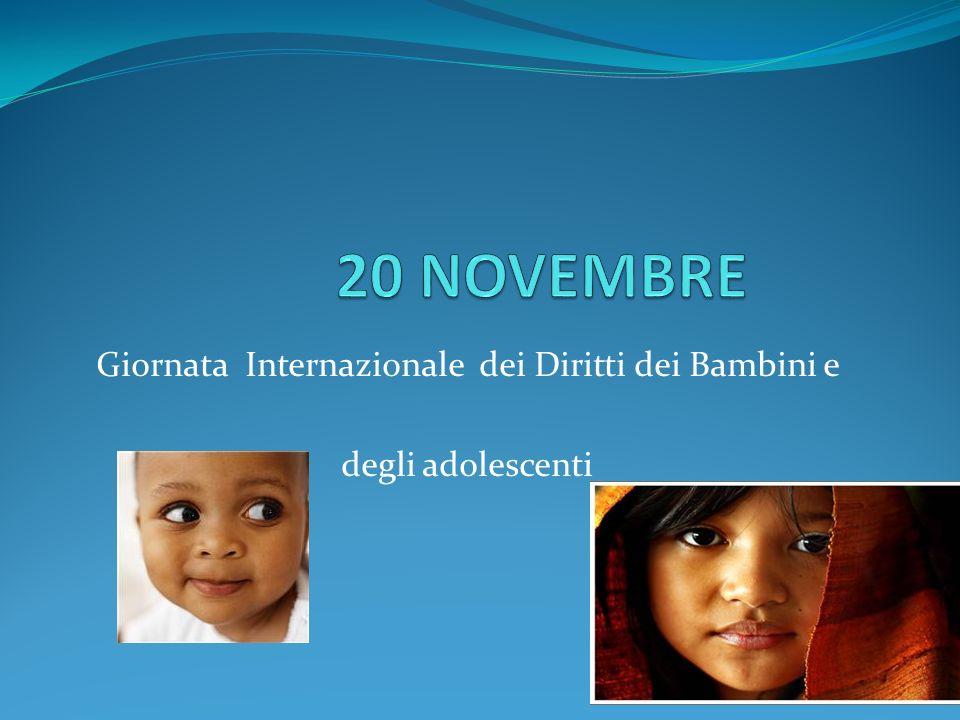Giornata Internazionale dei Diritti dei Bambini e degli adolescenti