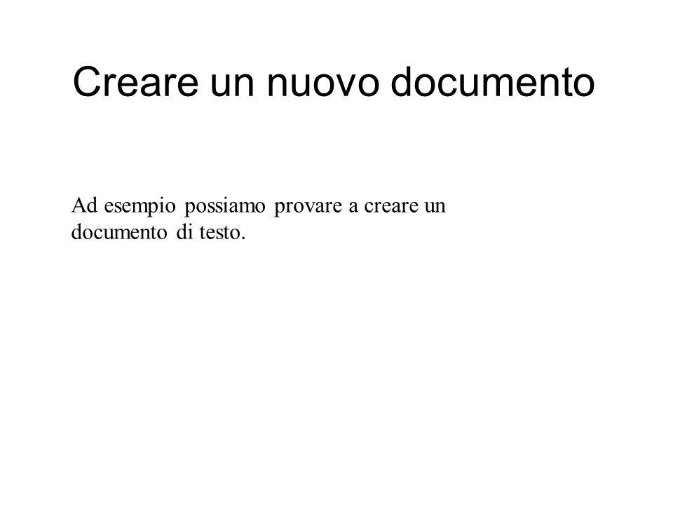 Creare una nuova cartella sul desktop Posso porre documenti sul desktop (attenzione, il desktop è una cartella sul nostro disco di installazione) Per