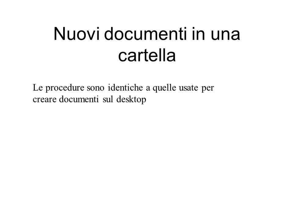 Creare un nuovo documento Ad esempio possiamo provare a creare un documento di testo.
