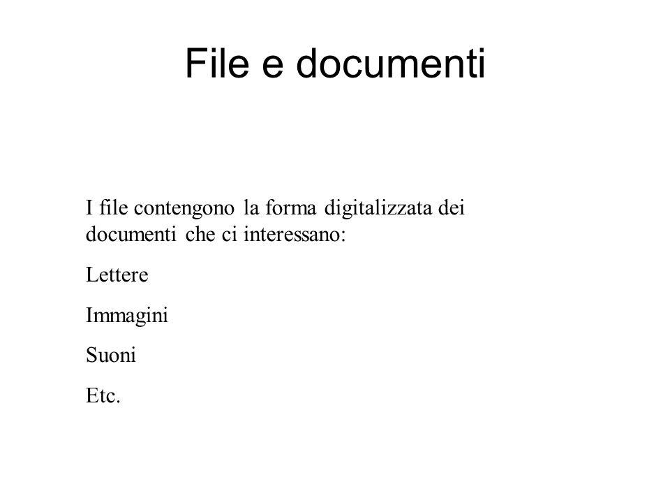 Aprire salvare e chiudere file Operazioni essenziali per gestire i nostri dati: Visualizzare i file Aprire file Salvare file Creare una copia Etc.