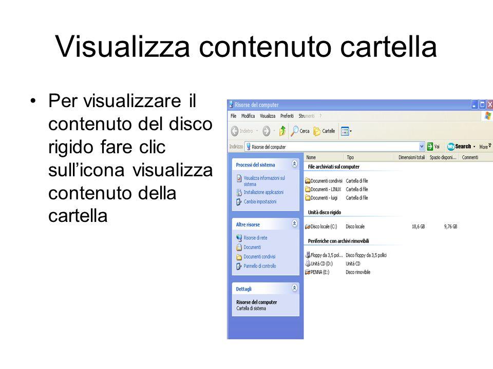 Visualizzazione contenuto disco C