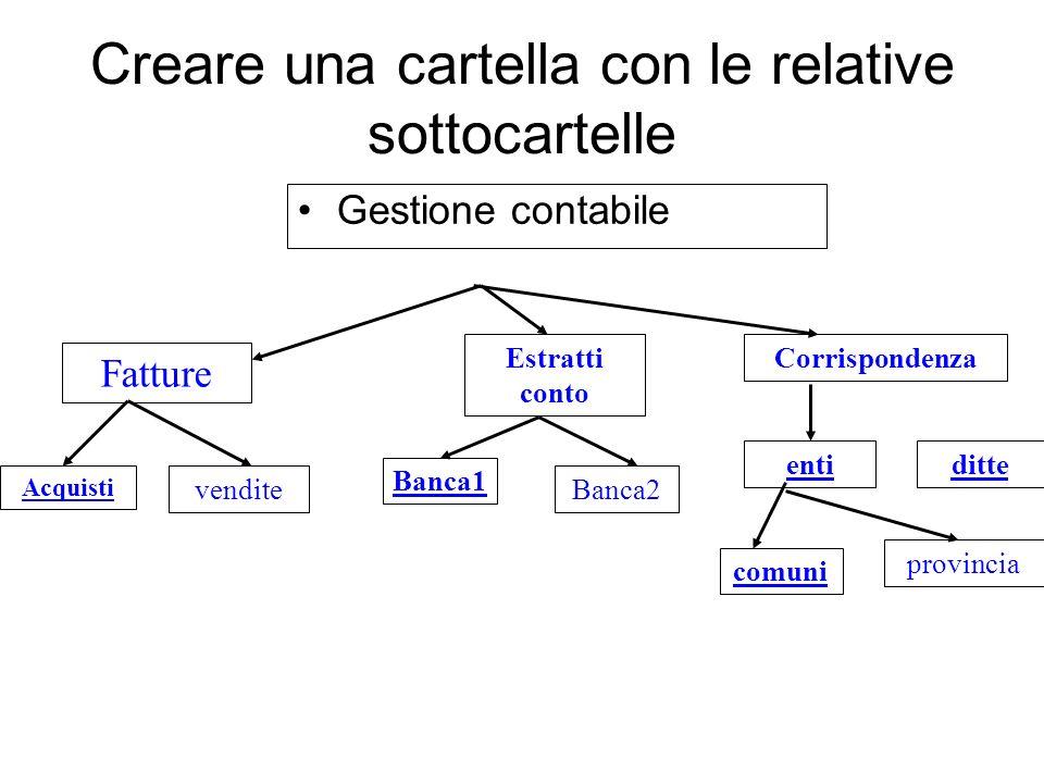 Creazione struttura ordinata sul disco rigido C E possibile creare delle cartelle ordinate sul disco rigido C o su altro supporto Start – Risorse comp
