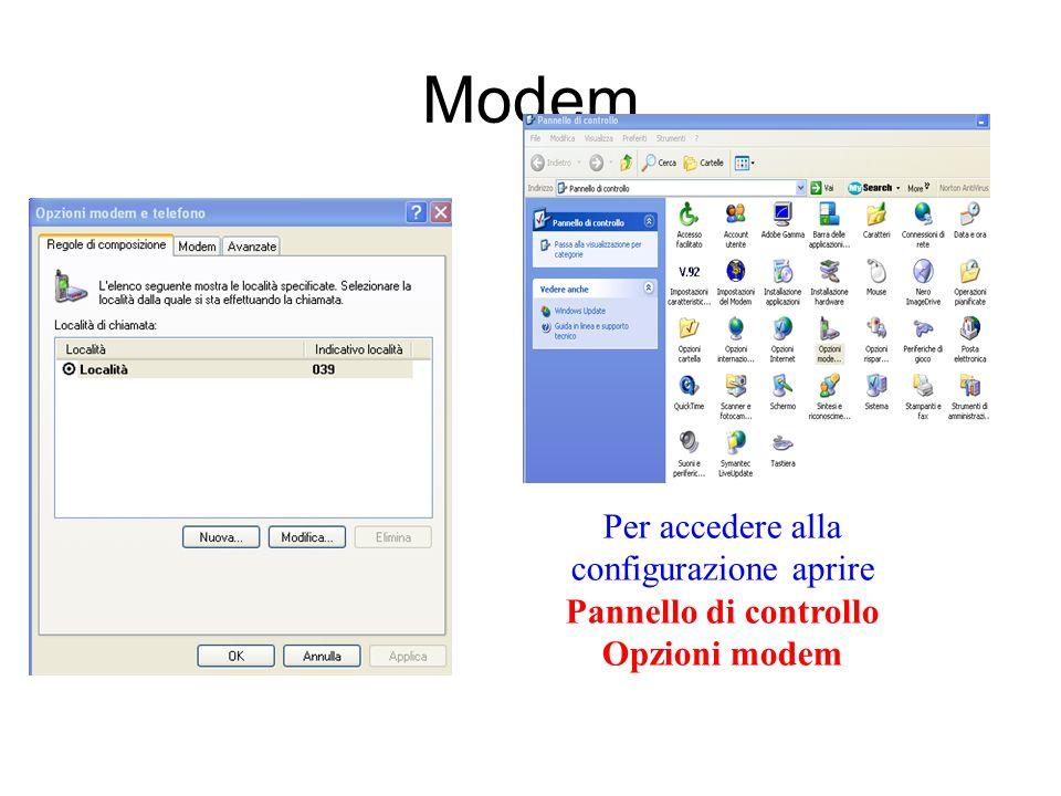 Modem I modem sono strumenti che permettono di collegare il proprio computer con altri computer. Esistono modem Esterni che si collegano o alla porta