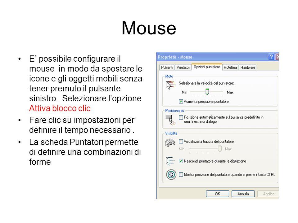 Mouse, tastiere,periferiche gioco Le icone che consentono di aprire i programmi dedicati ai mouse, alle tastiere, alle periferiche di gioco fanno part