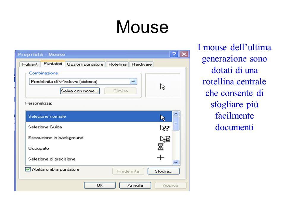 Mouse E possibile configurare il mouse in modo da spostare le icone e gli oggetti mobili senza tener premuto il pulsante sinistro. Selezionare lopzion