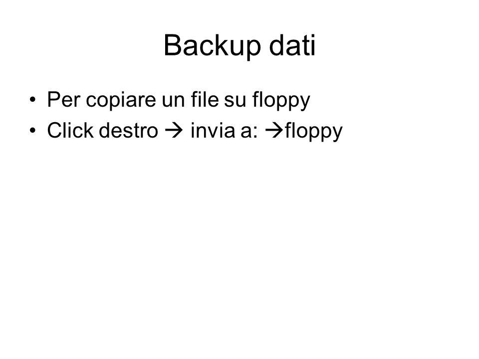 Eliminare file e cartelle Per eliminare un file o una cartella (attenzione, se ne cancella tutto il contenuto) possiamo: Spostare il file o la cartell