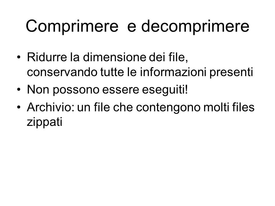 Creare collegamenti sul desktop Il programma installato compare sotto il menù Start Programmi Se voglio, posso creare un collegamento sul desktop (cli