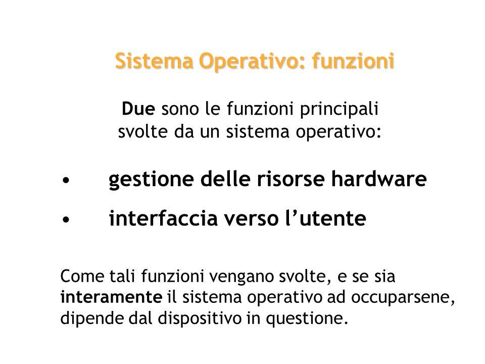 intermediario Il Sistema Operativo opera come intermediario tra lhardware del sistema e uno o più utenti. sistema operativo Allavvio del computer, ter