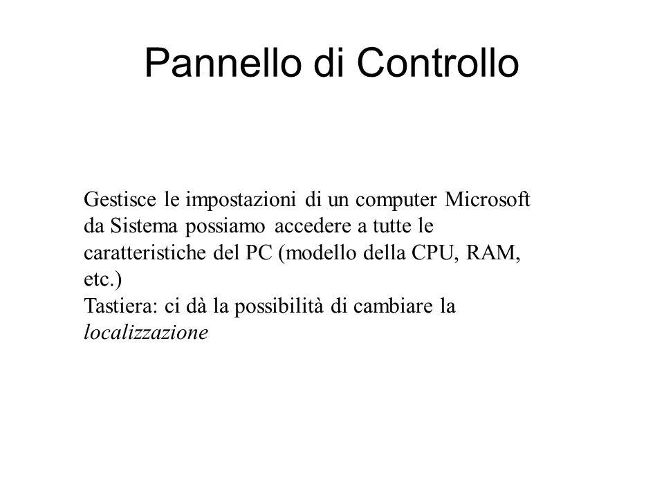 Pulsante Start e barra applicazioni Da qui si accede a tutti i programmi installati sul computer La barra inferiore prende il nome di barra delle appl