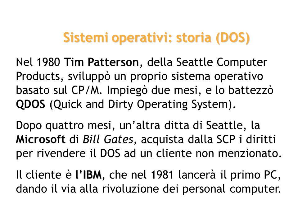 Negli anni 70, iniziano a diffondersi i primi personal computer. Gary Kildall sviluppa, nel 1972, il CP/M (Control Program for Microprocessors), un si