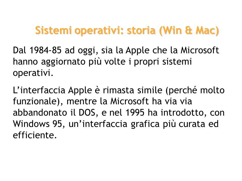 System La Apple Computer, negli stessi anni, sta portando avanti diversi progetti, e sperimenta diversi sistemi operativi. Nel 1984, con il lancio (e