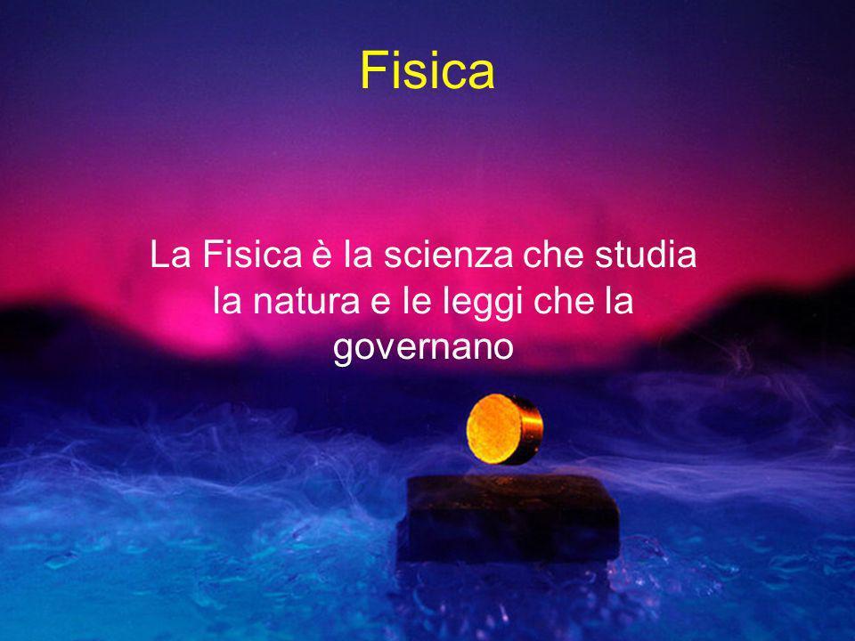 Fisica La Fisica è la scienza che studia la natura e le leggi che la governano