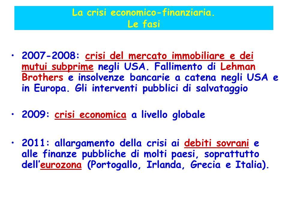 La crisi economico-finanziaria.