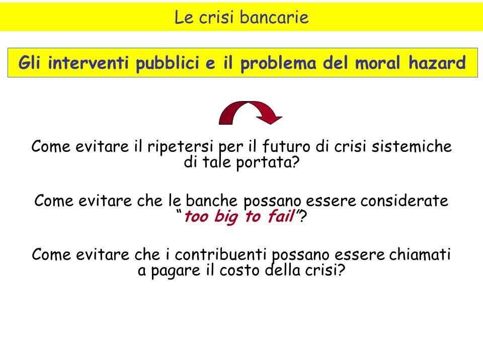 Come evitare il ripetersi per il futuro di crisi sistemiche di tale portata.