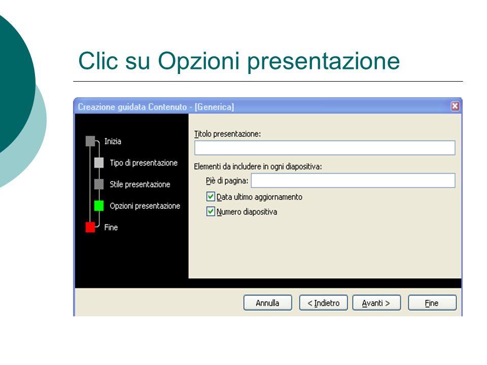 Clic stile di presentazione
