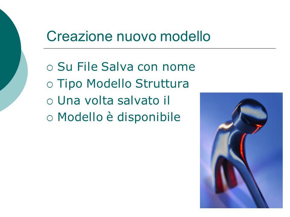 Creazione di un modello personalizzato Dal Menù File Nuovo Creare la seguente diapositiva