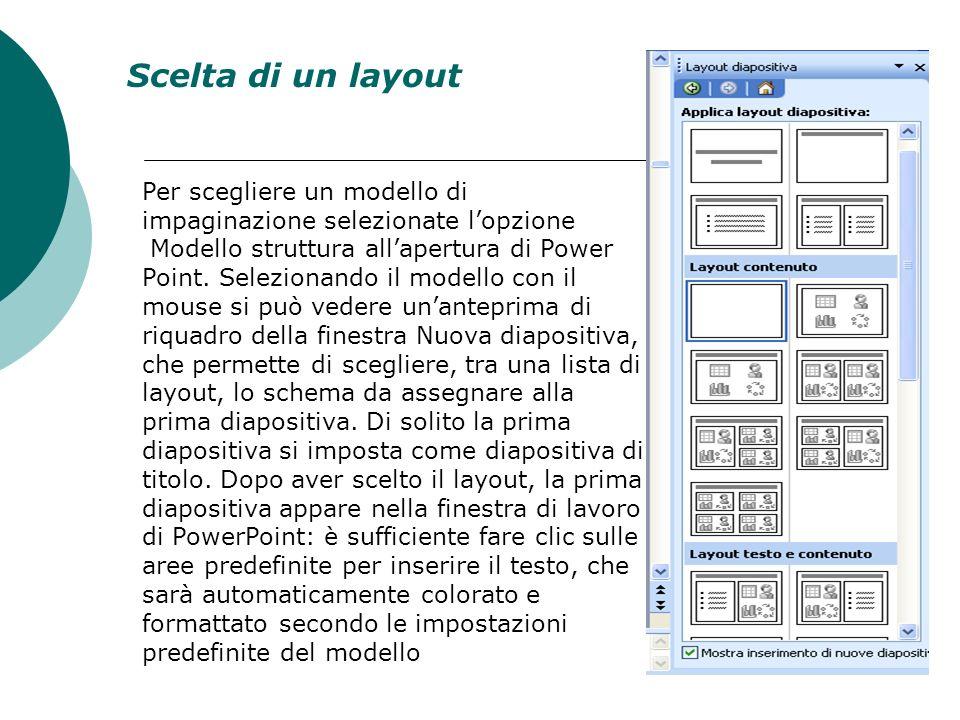 Creazione nuovo modello Su File Salva con nome Tipo Modello Struttura Una volta salvato il Modello è disponibile