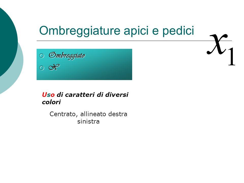 Grassetto, corsivo, sottolineato Uso delle icone G grassetto C corsivo S sottolineato