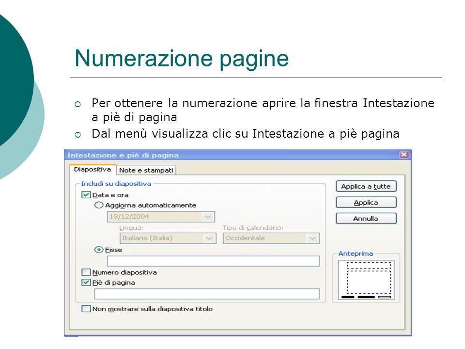 Preparazione distribuzione Il nella presentazione può trovare utile inserire sotto la diapositiva delle note che lo aiutino a ricordare. Dal _Menù vis