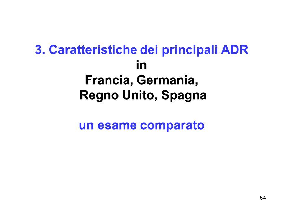54 3. Caratteristiche dei principali ADR in Francia, Germania, Regno Unito, Spagna un esame comparato