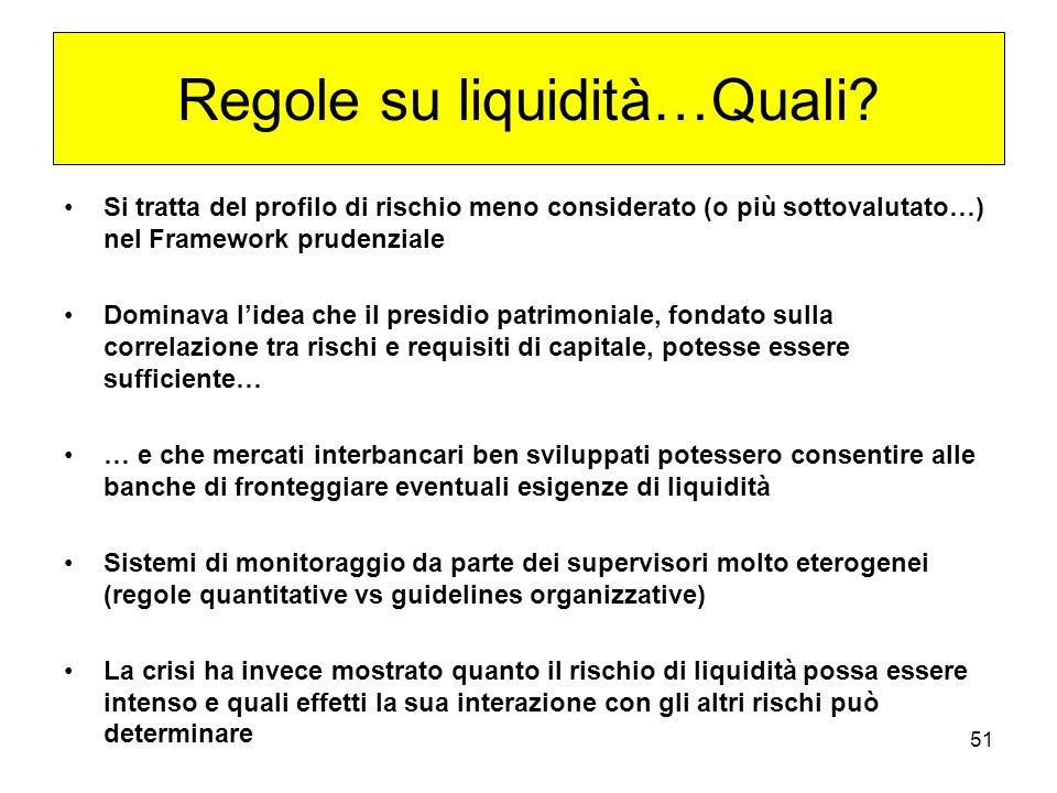 51 Regole su liquidità…Quali.