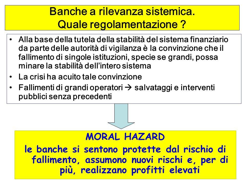 92 Banche a rilevanza sistemica.Quale regolamentazione .