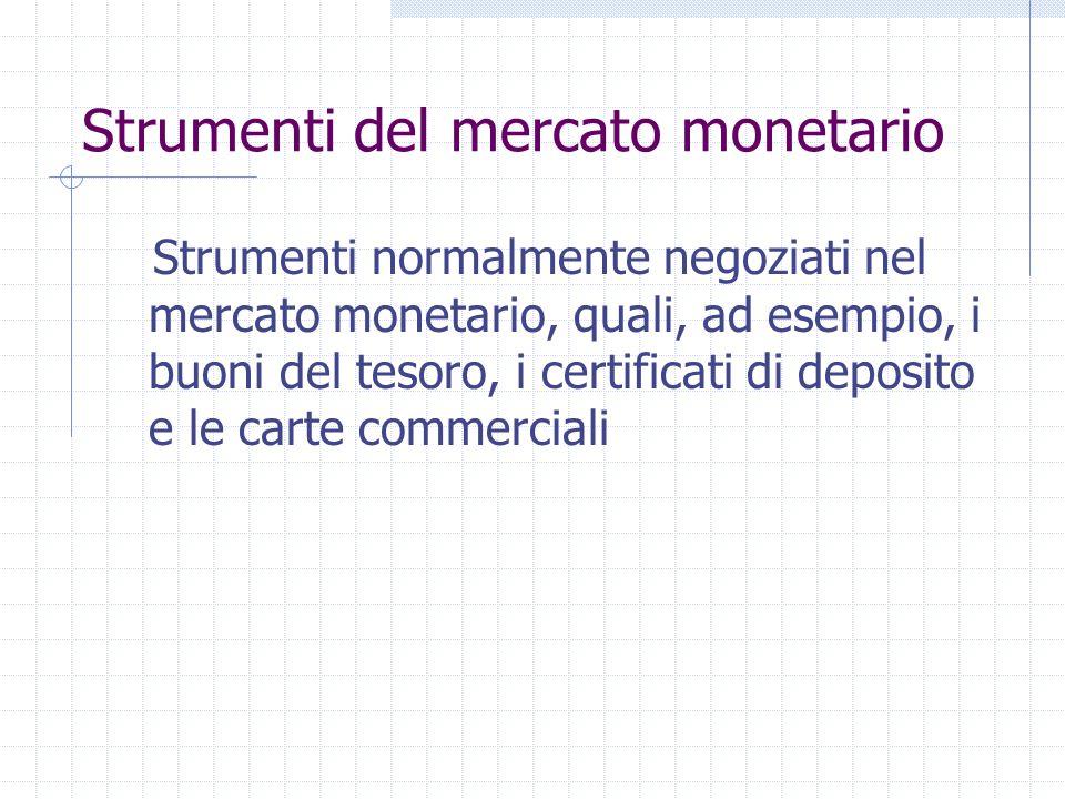 Valori mobiliari a) le azioni di società e altri titoli equivalenti ad azioni di società, di partnership o di altri soggetti e certificati di deposito