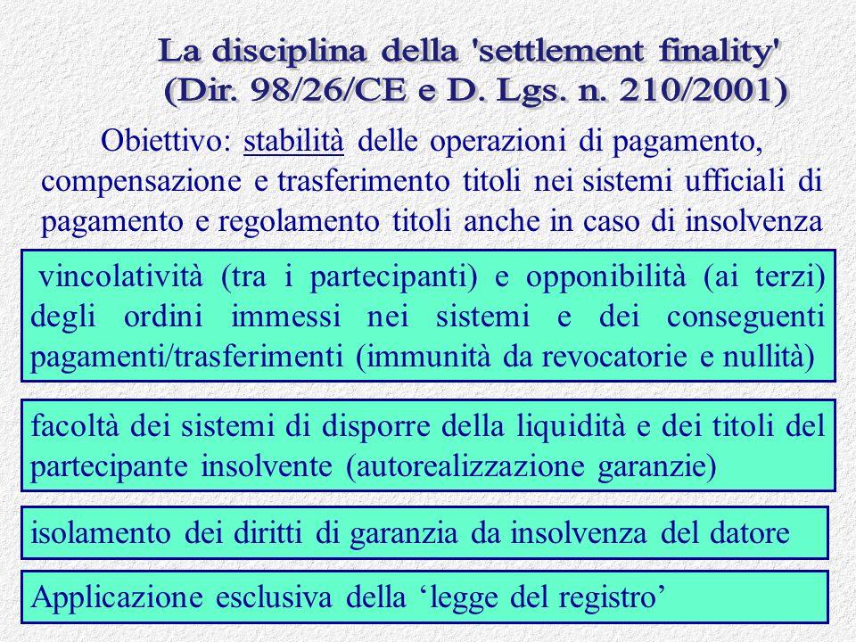 Francesco Garrone febbraio 201125 Obiettivo: stabilità delle operazioni di pagamento, compensazione e trasferimento titoli nei sistemi ufficiali di pa