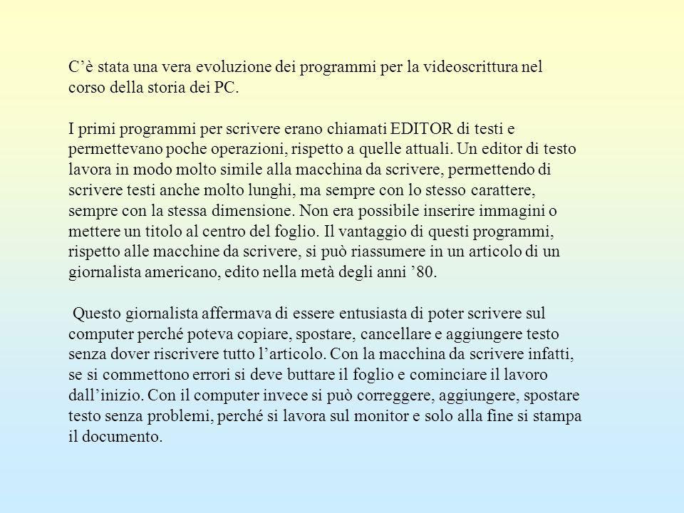 Si è visto nel paragrafo precedente che, quando sono visualizzate le intestazioni, il testo del documento risulta in grigio.