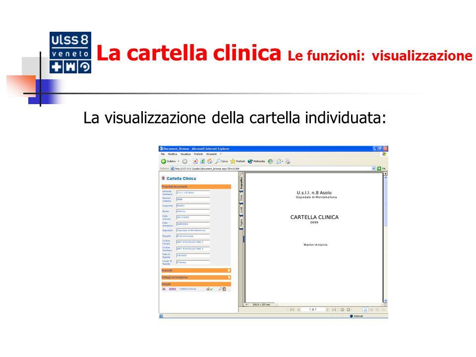 La cartella clinica Le funzioni: log