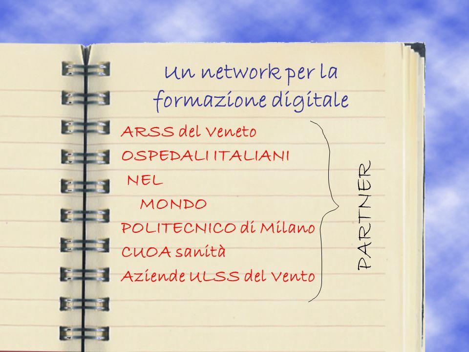 Un network per la formazione digitale ARSS del Veneto OSPEDALI ITALIANI NEL MONDO POLITECNICO di Milano CUOA sanità Aziende ULSS del Vento PARTNER