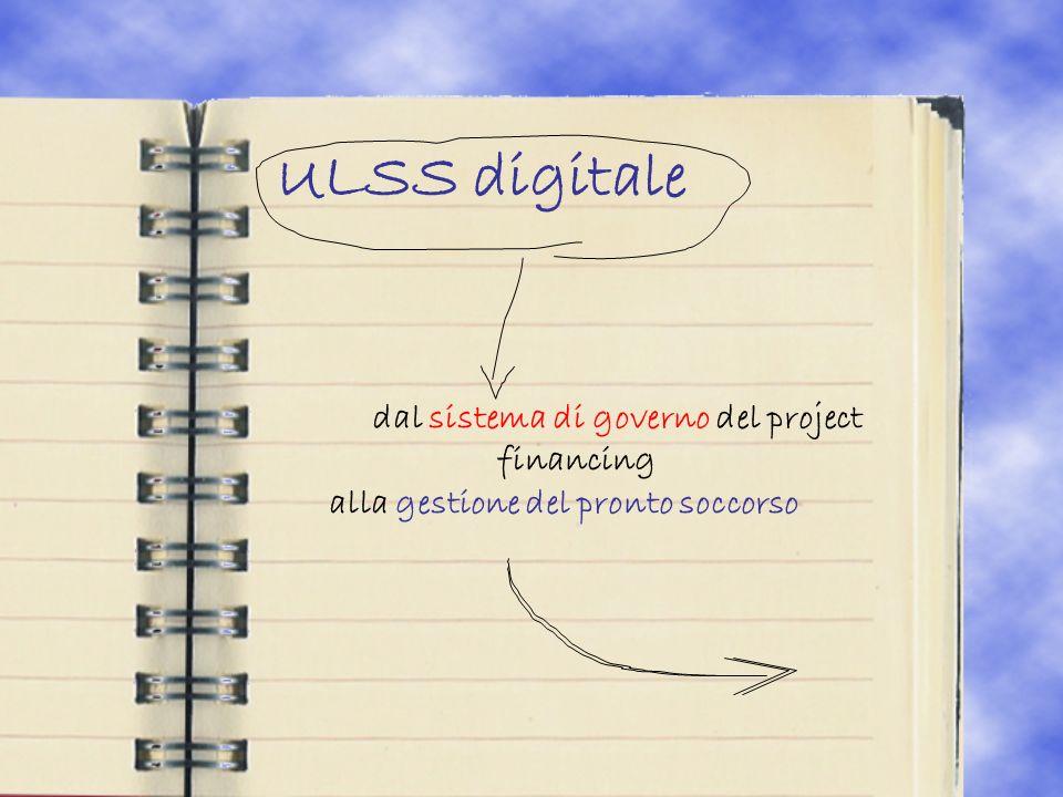 ULSS digitale dal sistema di governo del project financing alla gestione del pronto soccorso