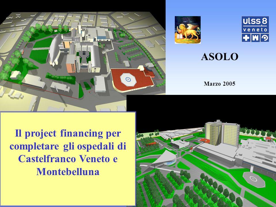 Il project financing per completare gli ospedali di Castelfranco Veneto e Montebelluna ASOLO Marzo 2005