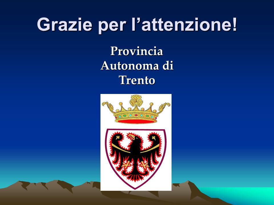 Grazie per lattenzione! Provincia Autonoma di Trento