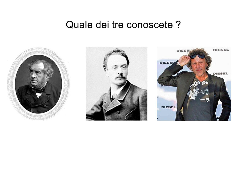 Quale dei tre conoscete ?