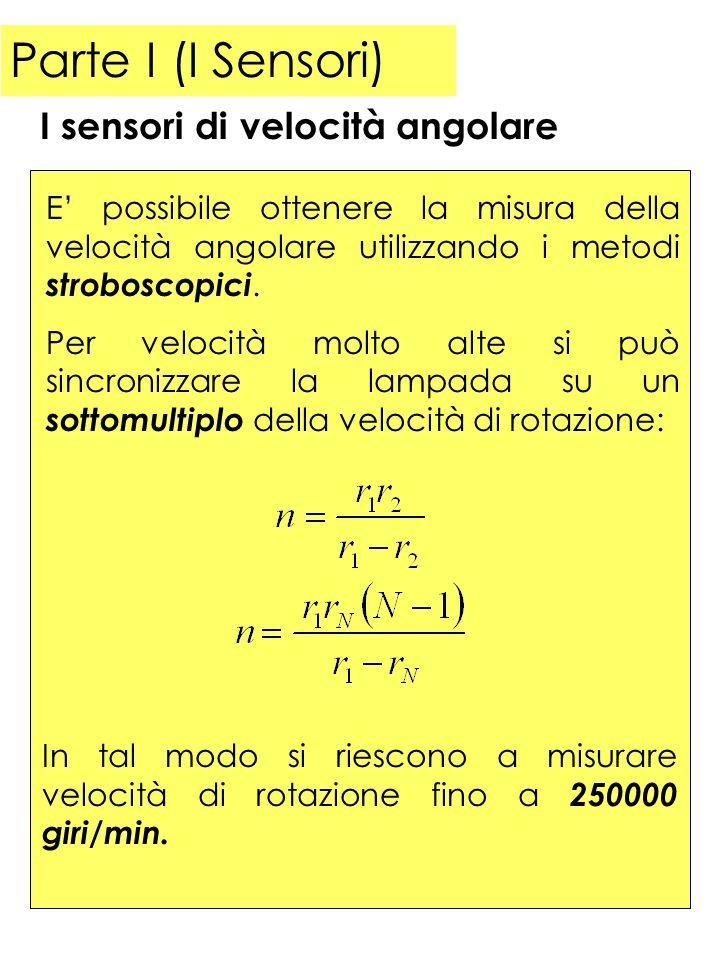 Parte I (I Sensori) E possibile ottenere una misura diretta della velocità utilizzando la legge dellinduzione elettromagnetica.