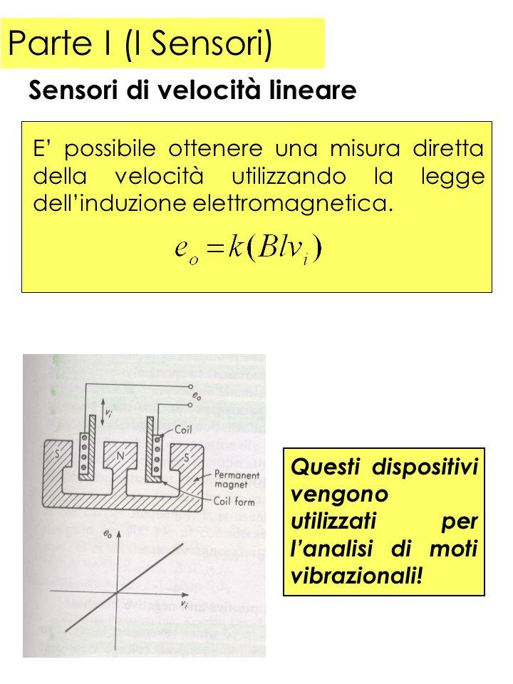 Parte I (I Sensori) E possibile ottenere una misura diretta della velocità utilizzando la legge dellinduzione elettromagnetica. Sensori di velocità li