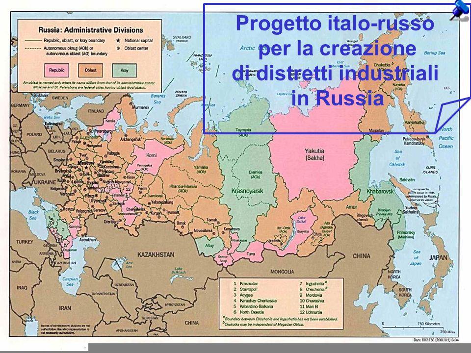 1 Progetto italo-russo per la creazione di distretti industriali in Russia