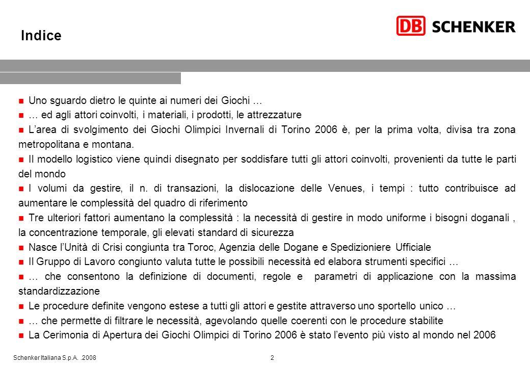 Schenker Italiana S.p.A..2008 13 … che permette di agevolare le operazioni previste, con soddisfazione di tutti gli attori coinvolti e portando a … IBC MPC OVB OVS