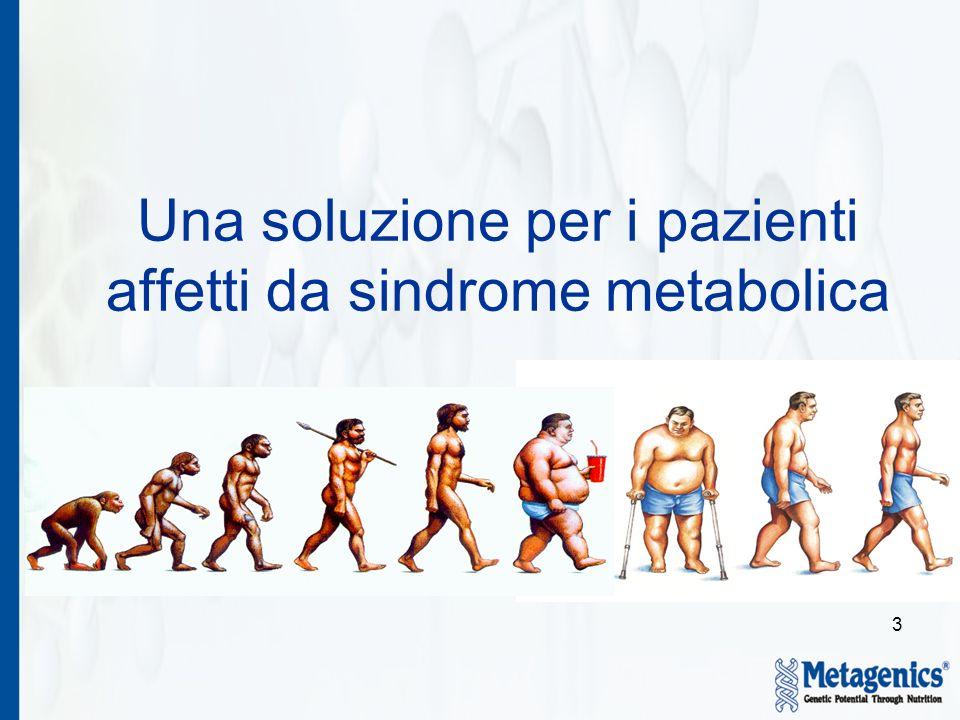 3 Una soluzione per i pazienti affetti da sindrome metabolica