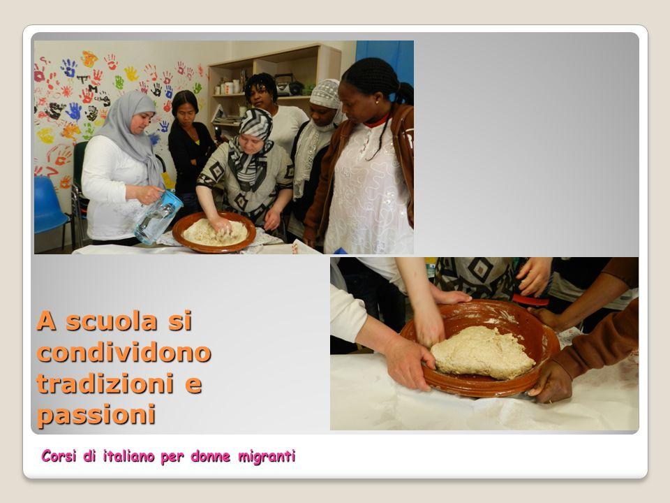 A scuola si condividono tradizioni e passioni Corsi di italiano per donne migranti
