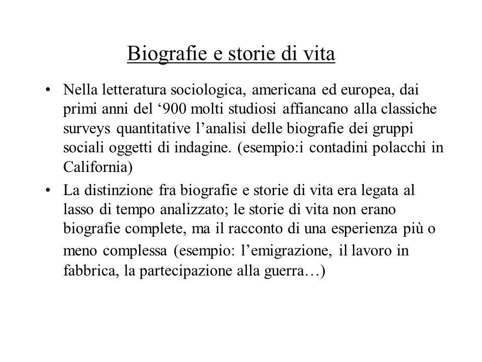 Fonti orali e storie di vita Lorigine dellattenzione alle fonti orali nasce in ambito storiografico ed antropologico.