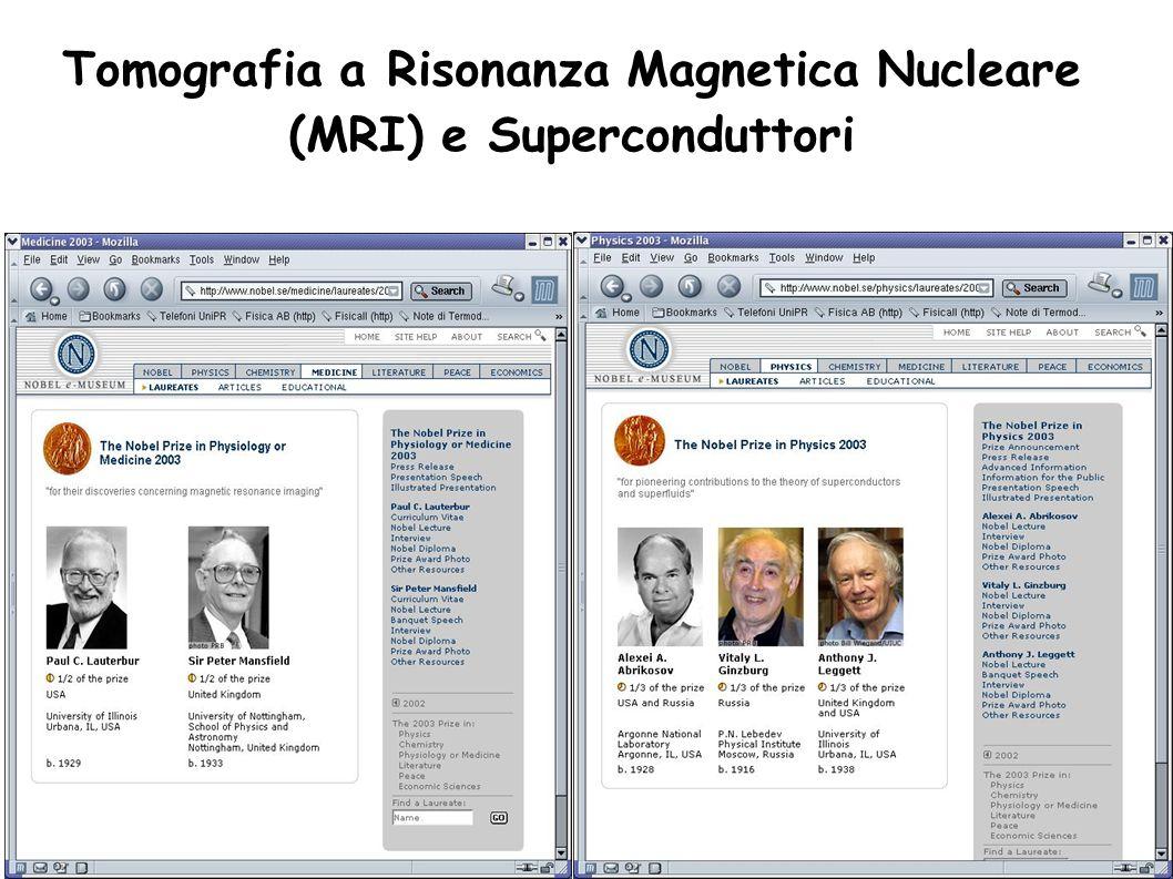 Tomografia a Risonanza Magnetica Nucleare (MRI) e Superconduttori